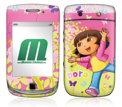 MusicSkins, MS-DORA10199, Dora The Explorer - Butterfly, BlackBerry Torch (9800), Skin