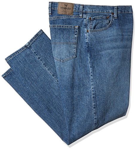 Wrangler Authentics Men's Big and Tall Classic Regular Fit Jean, Vintage Blue Flex, (One Button Vintage Jeans)