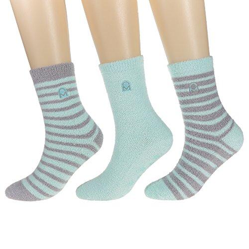 3-Pairs Womens Noble Mount Soft Anti-Skid Micro-Plush Winter Socks, Set D5, ()