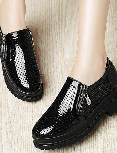 ZQ Zapatos de mujer - Plataforma - Plataforma / Creepers - Tacones - Oficina y Trabajo / Vestido / Casual / Fiesta y Noche - Tul -Negro / , white-us8 / eu39 / uk6 / cn39 , white-us8 / eu39 / uk6 / cn3 black-us7.5 / eu38 / uk5.5 / cn38