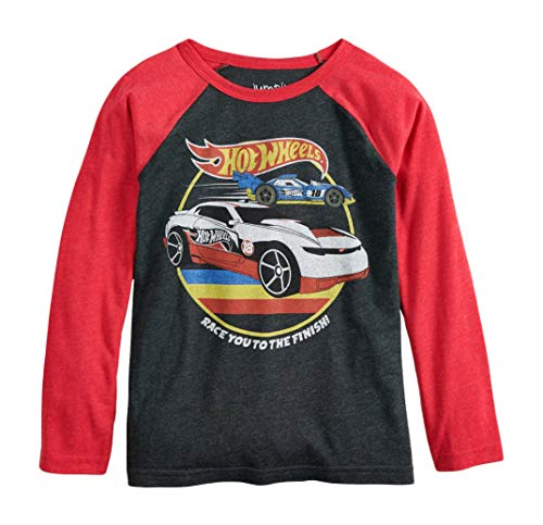 Price comparison product image Hot Wheels Boys Graphic Retro Long Sleeve Raglan Shirt (4-8) (8)