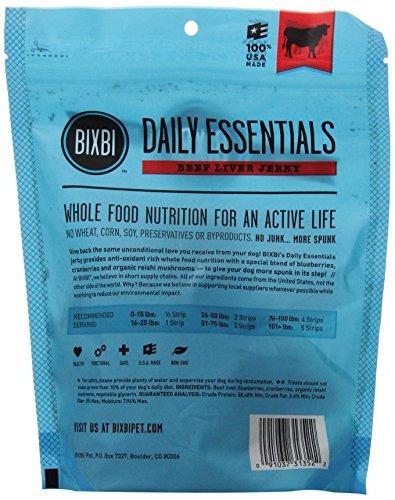 Image of Bixbi Immune Support Dog Jerky Treats, Beef Liver, 5 Ounce