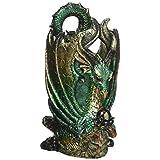 Design Toscano QS292894 Escritoire the Dragon Desk Accessory Sculpture, Multicolor