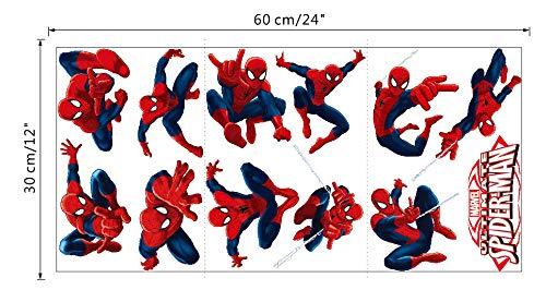 Spiderman Pegatinas Spiderman Pegatinas Decorativas Pared Spiderman Pegatinas de Pared de Spiderman Para Ni/ños Decoraci/ón de la Pared Stickers Spiderman