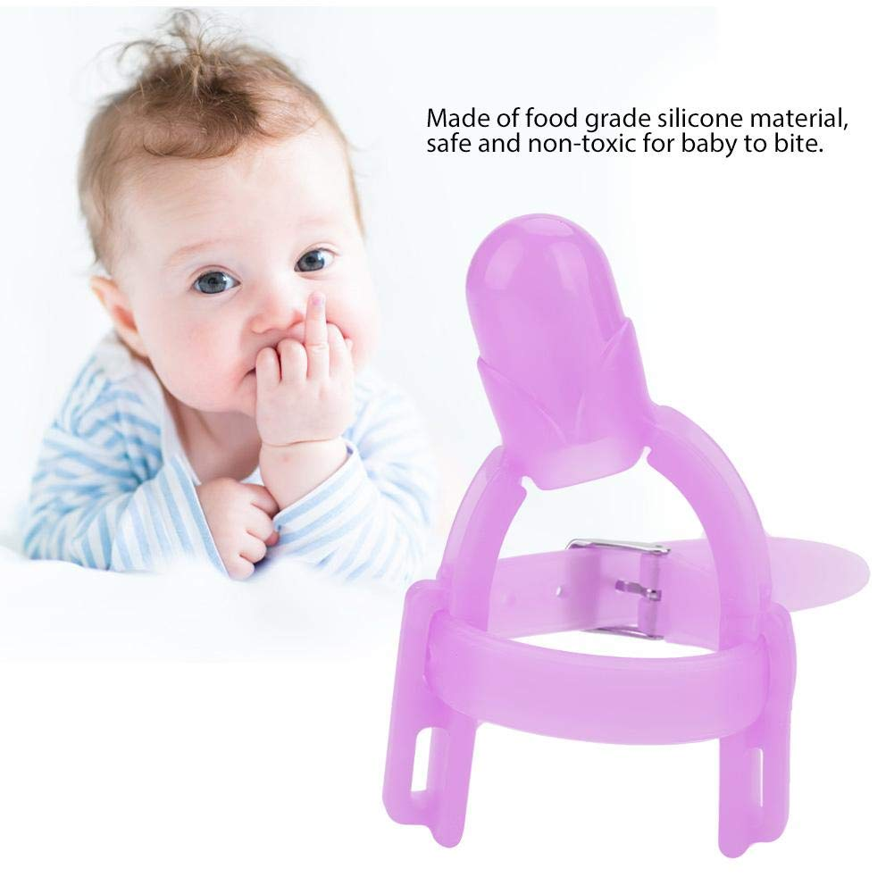 Chuparse El Dedo Silicona Pulgar Chupando Detener Chupete pulgar protector para dedos No t/óxico Silicona para beb/és Dedo protector anti-mordida para el dedo pulgar para ni/ños de 1-5 a/ños amarillo