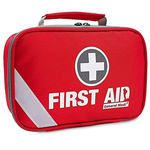 Emergency First Aid Cpr - 2-in-1 First Aid Kit (215 Piece) + Bonus 43 Piece Mini First Aid Kit -Includes Eyewash, Ice(Cold) Pack,Moleskin Pad,CPR Face Mask and Emergency Blanket for Travel, Home, Office, Car, Workplace