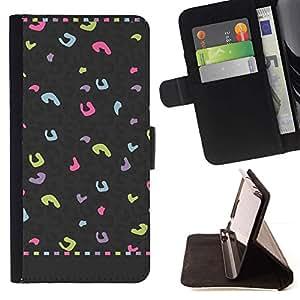Momo Phone Case / Flip Funda de Cuero Case Cover - Spots Modelo abstracto Gris Rosa - HTC Desire 626