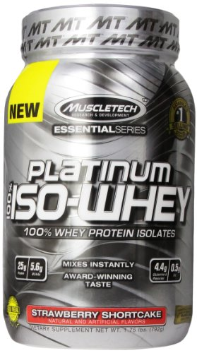 MuscleTech Platinum Isolates Strawberry Shortcake
