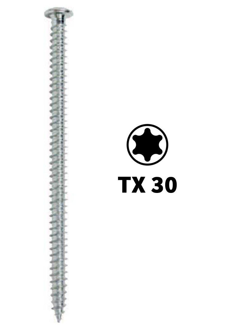 Fensterrahmenschrauben mit Flachkopf, Maß e / Menge:7.5 x 182 mm / 100 Stü ck schrauben-hammer