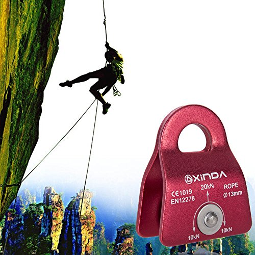 "Climbing Rescue Aluminum Side Swing 20KN Pulley for 13mm(1/2"") Rope"