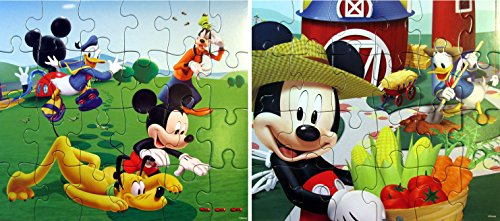Disney Jigsaw Puzzles for Kids - Mickey Mouse 24 Piece Puzzles (Set of 2 Puzzles) by Disney Mickey Mouse Clubhouse Puzzles