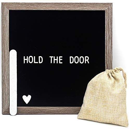 Muga Changeable Letter Board 12x12 inches - Felt Letter Board Include 290 Letters, Numbers & Symbols, with Free Canvas Bag & MDF Frame (Black) by Muga