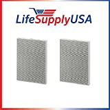 LifeSupplyUSA 2 HEPA Air Purifier Filters for Winix 115115 / PlasmaWave, Size 21