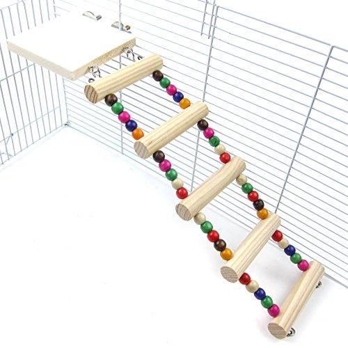 Alfie Pet - Mark Wooden Ladder and Resting Platform Set for Mouse, Chinchilla, Rat, Gerbil and Dwarf Hamster
