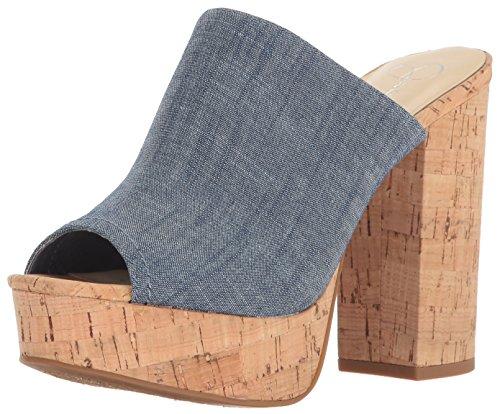 Jessica Simpson Women's Giavanna Heeled Sandal, Chambray Blue, 9 Medium (Jessica High Heel Sandals)