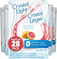 Crystal Light Pitcher Packs, Pink Lemonade, 112 Packets (28 Boxes of 4 Packets)