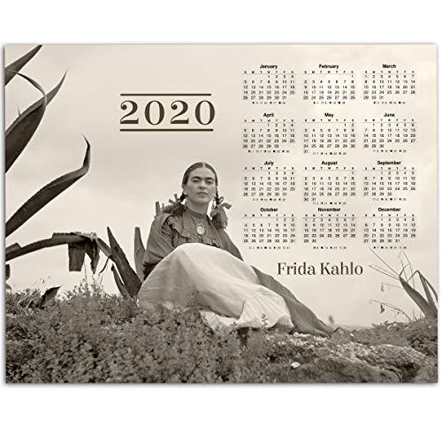 2020 Icon - 2020 Calendar - Frida Kahlo Rare Outdoor Photo - 11x14 Unframed Calendar Art Print - Perfect Southwest Home Calendar, Also Makes a Great Gift Under $15