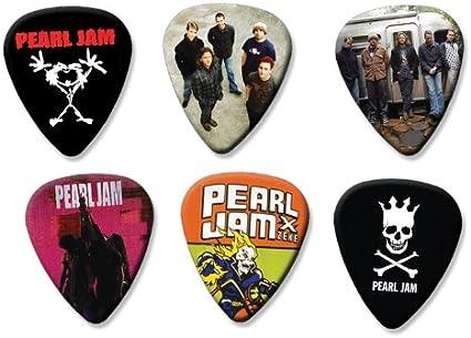 Pearl Jam – Juego de 6 púas de guitarra sueltos (colección e ...