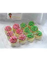 Katgely Mini Cupcake Container for Dozen Mini Cupcakes (Pack of 50)