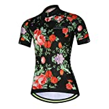 Womens Cycling Jersey Aogda Short Sleeve 3D Silicon Padded Girls Bib...