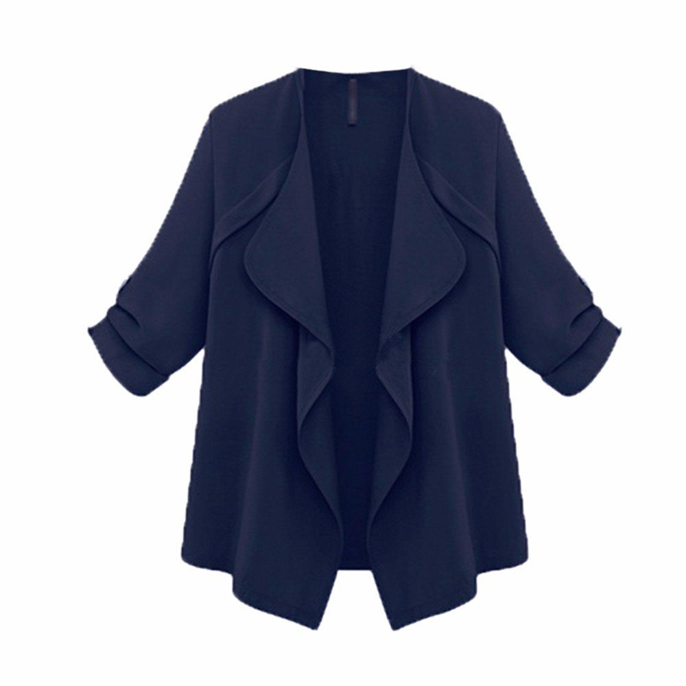Bluester Women Long Sleeve Cardigan Coat, Ladies Open Front Jacket Plus Size