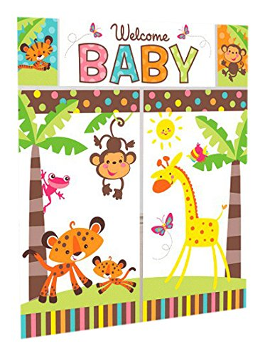 Jungle Animals Scene Setter Wall Decorating Kit | Baby Shower Party -
