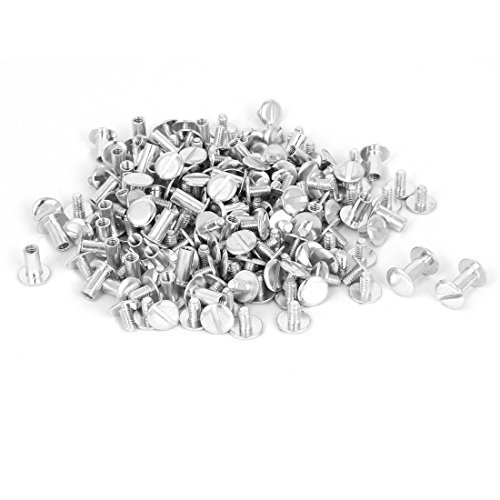 Binding Post Screw (uxcell M5x10mm Aluminum Chicago Screws Binding Posts Silver Tone 100pcs)