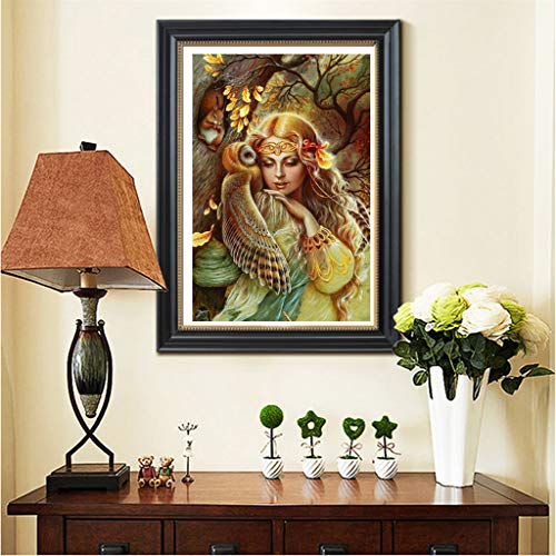 OrchidAmor 5D Embroidery Paintings Rhinestone Pasted DIY Diamond Painting Cross Stitch 2019 New]()