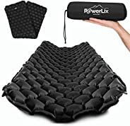 POWERLIX Sleeping Pad - Ultralight Inflatable Sleeping Mat, Best Self Serving Pad for Camping, Backpacking, Hi