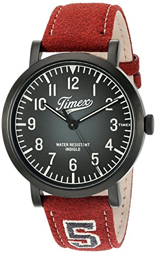 Timex Unisex TW2P83200 Originals University Red Leather Strap Watch