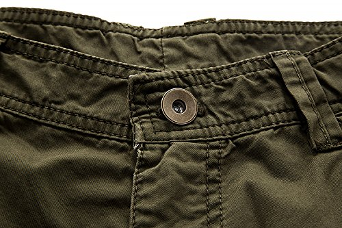 Leward Men's Cotton Twill Cargo Shorts Outdoor Wear Lightweight (34, Army Green)