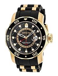 Invicta Men's 6991 Pro Diver Collection GMT Black Dial Polyurethane Watch