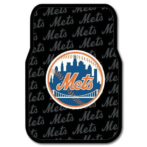 MLB New York Mets Auto Front Floor Mat, 2-Pack (York New Floor Mets)