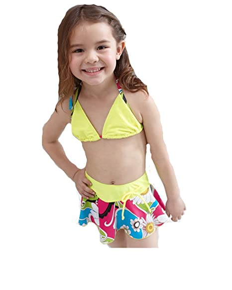 Amazon.com: CT Little y Big Girls Bikini Traje De Baño: Clothing