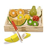 kitchen accessories toys - Melissa & Doug Cutting Fruit Set - Wooden Play Food Kitchen Accessory