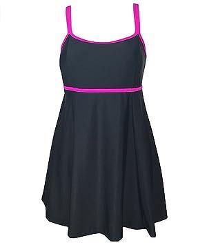 Blazar Bañador Mujer con Falda Negro Tallas Grandes Trajes de Baño Premama Tankini Push Up Acolchado