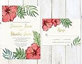 Tropical Wedding Invitation, Tropical Flowers Wedding Invitation, Destination Wedding Invite