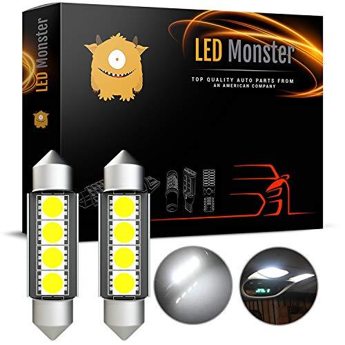LED Monster 2-Pack White 42mm Festoon LED Light Bulbs Error Free Interior Map Dome Lights 211-2 578 569