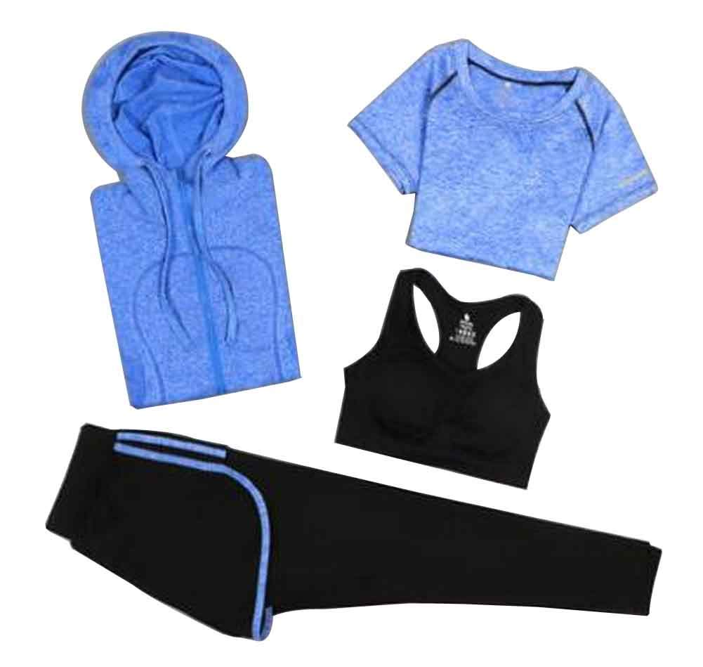 Sport Suit for Women Quick Drying Clothing for Ladies Yoga Clothing [L]