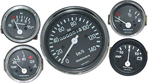 COMPLETE METER KIT SPEEDOMETER +TEMP +OIL+FUEL+AMP GAUGES WILLYS JEEP
