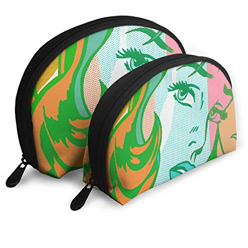 Makeup Bag Pop Girl Art Portable Shell Toiletry Organizer For Mother Halloween Gift 2 -