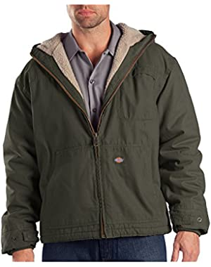 Drop Ship 8.5 oz. Sanded Duck Sherpa Lined Hooded Jacket
