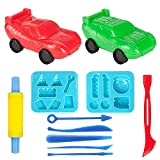 Minibaby 3D Cars Play-Art Clay and Dough Playing Tools Set for Children's day