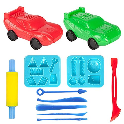 Minibaby 3D Cars Play-Art Clay and Dough Playing Tools Set for Children's day by Minibaby
