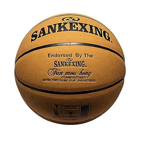 1 x Official Size 7 Leather Balón de baloncesto Indoor Outdoor ...