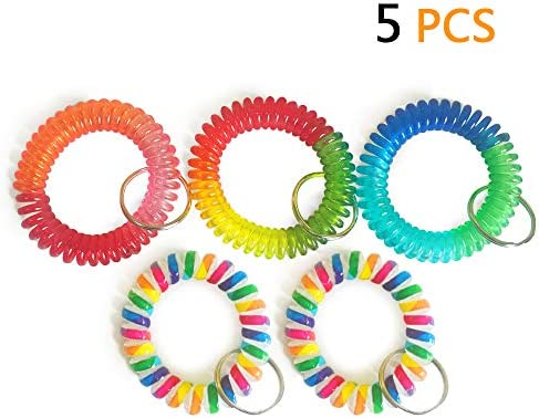 Wrist Keychain Colorful Stretch Chain product image