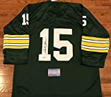 Bart Starr Signed Jersey - Memories COA) - Mounted Memories Certified - Autographed NFL Jerseys