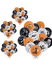 100 Stukken Halloween decoratie ballonnen, Halloween ballonnen, Halloween-versieringen, voor Diverse Enge Halloweenfeesten, Halloweengeboorten, Tovenaars, Monsters en Jagershuizen (3 Kleuren)