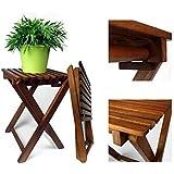 2er Set Klapphocker Lina Beistelltisch Gartenhocker aus Eukalyptusholz
