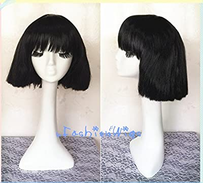 Lady Gaga Party Cosplay Wig, White Blonde / Black Short Costume Anime Cosplay Wigs for Party UF088